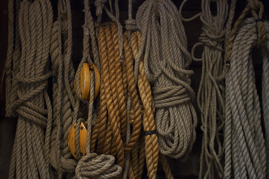 Nautical ropes i photograph by katherine norris for Large nautical rope