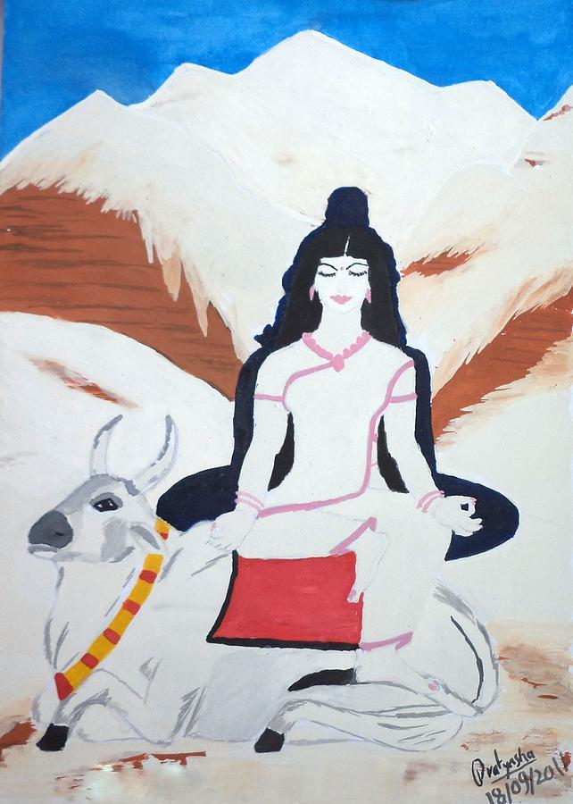 Nava Durga Mahagauri Painting