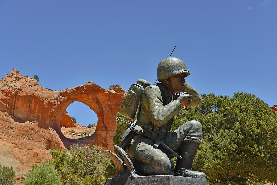 Navajo Code Talker - Window Rock Az Photograph