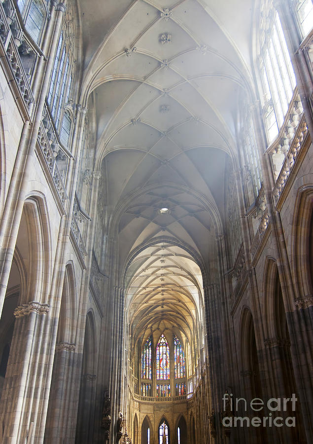 Prague Castle Photograph - Nave Of The Cathedral by Michal Boubin