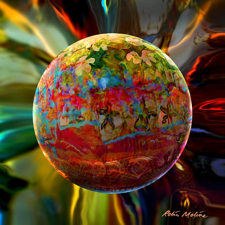 Navi Sphere Digital Art  - Navi Sphere Fine Art Print