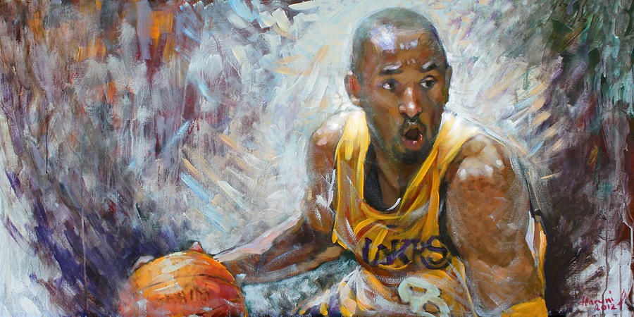 Nba Lakers Kobe Black Mamba Painting  - Nba Lakers Kobe Black Mamba Fine Art Print