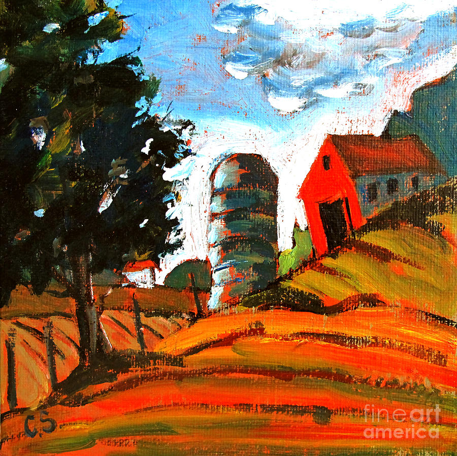 Near Flint Ridge Ohio At Brownsville Painting