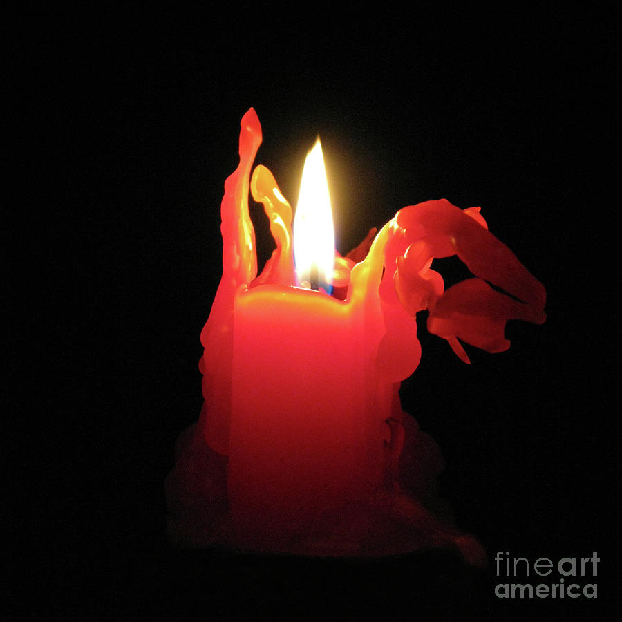 Candle Photograph - Nearing Burnout by Ann Horn