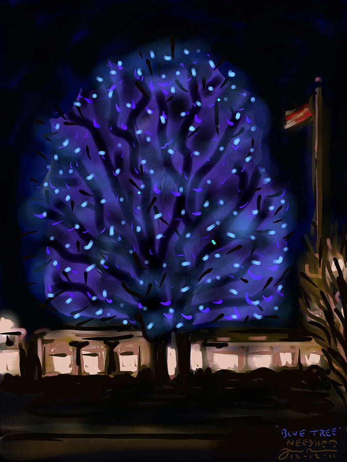 Needhams Blue Tree Painting