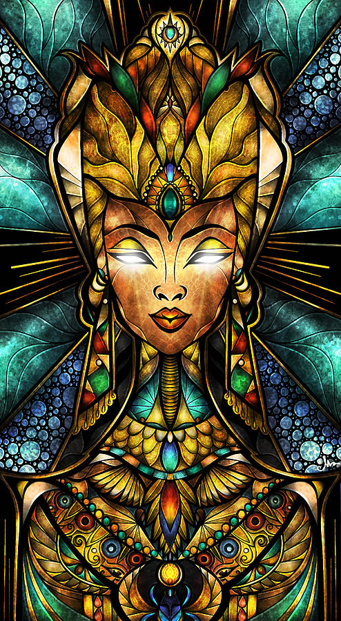Nefertiti Digital Art by Mandie Manzano