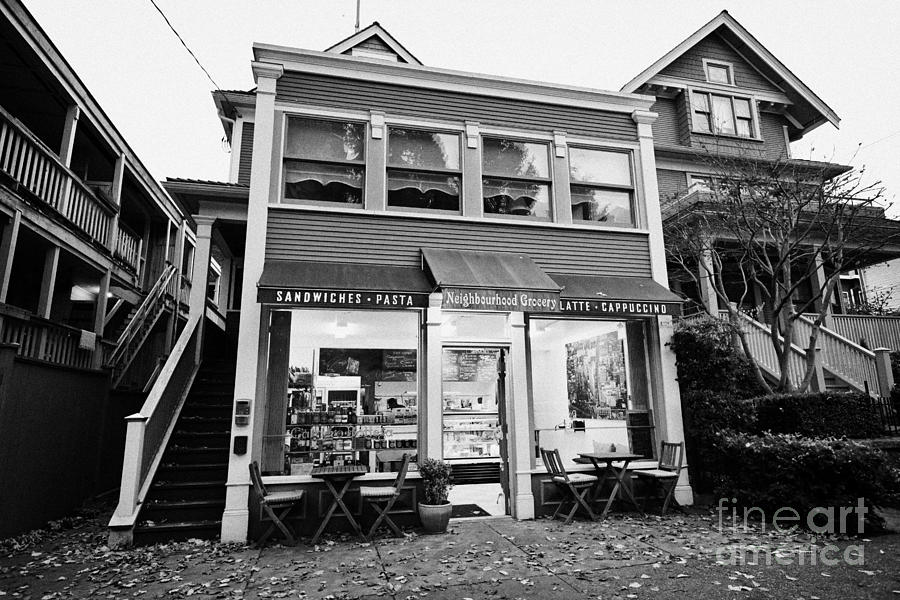 neighbourhood grocery and small deli in west end Vancouver BC Canada Photograph