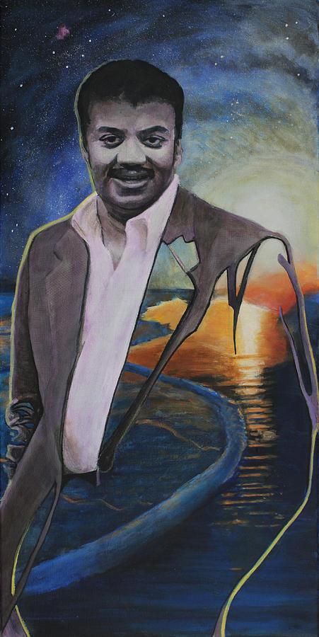Neil Degrasse Tyson- Shore Of The Cosmic Ocean Painting