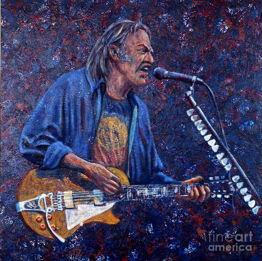 Neil Young Painting - Neil Young by John Cruse Knotts
