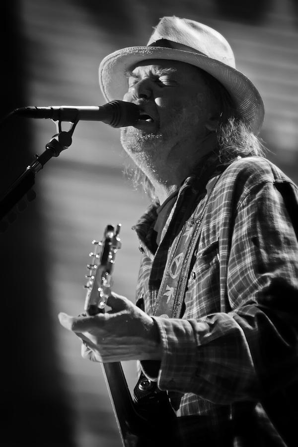 Neil Young On Guitar At Farm Aid 2010 Photograph