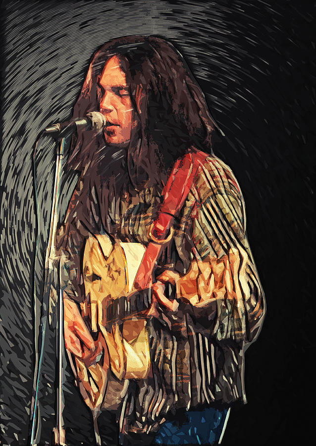 Neil Young Digital Art