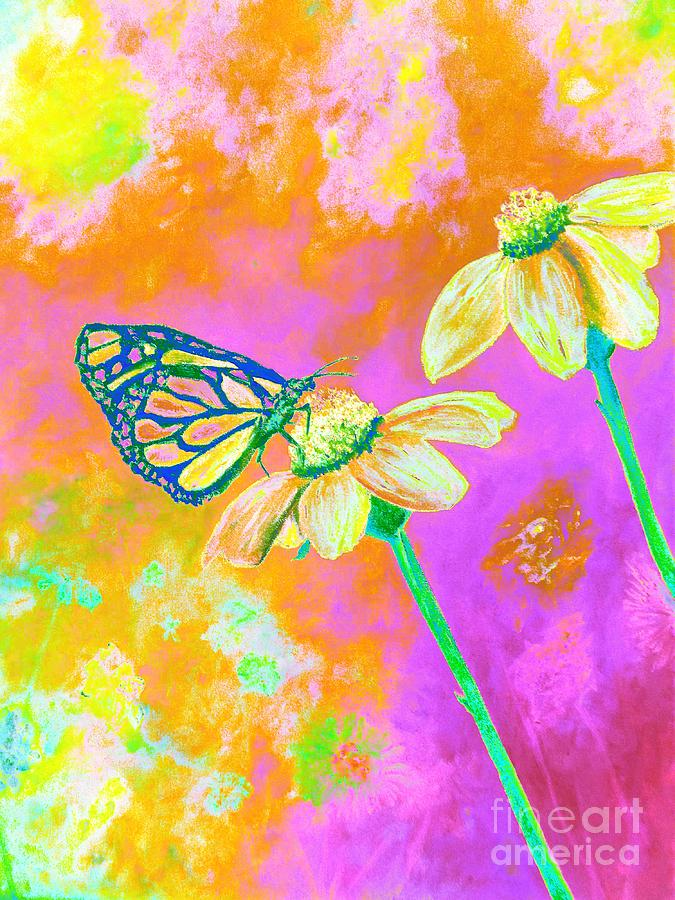 Neon Butterfly Photograph