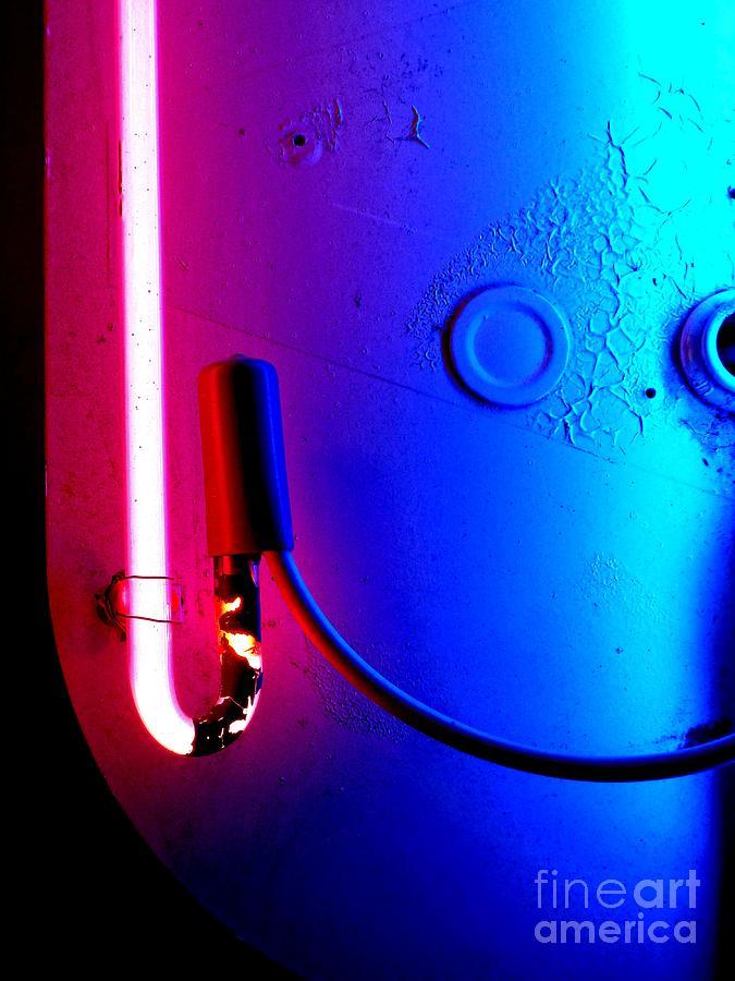 Newel Hunter Photograph - Neon Glow 2 by Newel Hunter