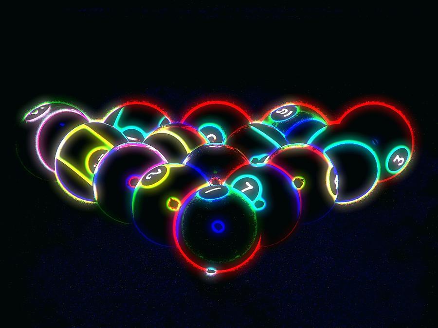 Neon Pool Balls Photograph By Kathy Churchman