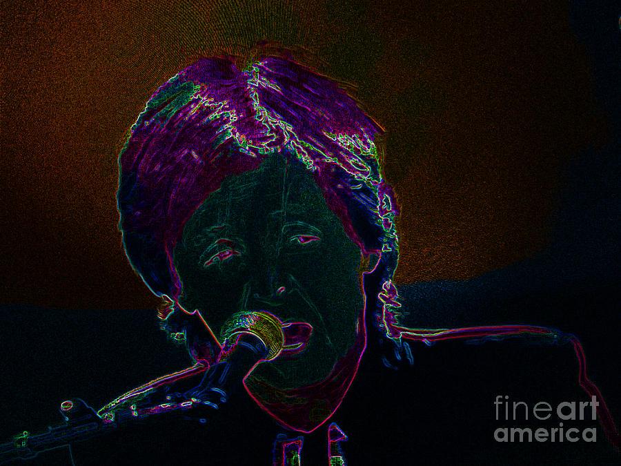 Artist Photograph - Neon Sir Paul by Tina M Wenger