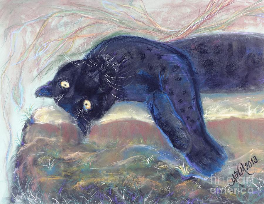 Neon Version Jungle Kitty Drawing