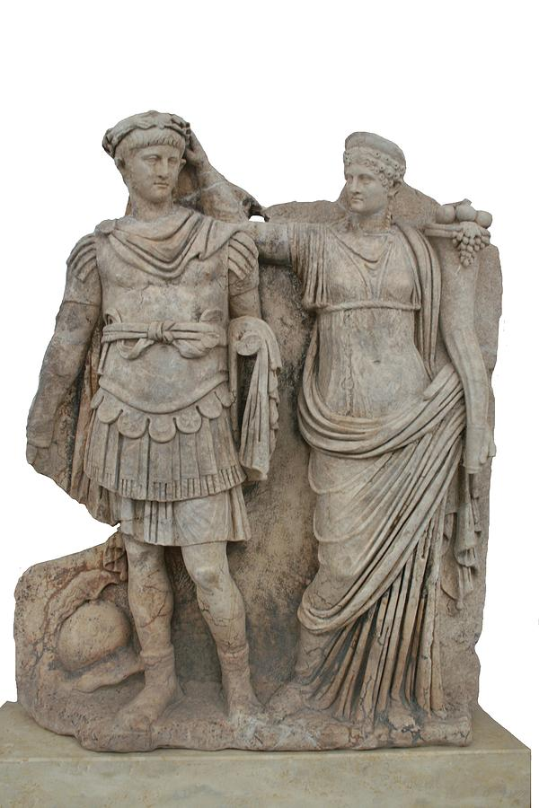 Nero And His Mother Agrippina Relief