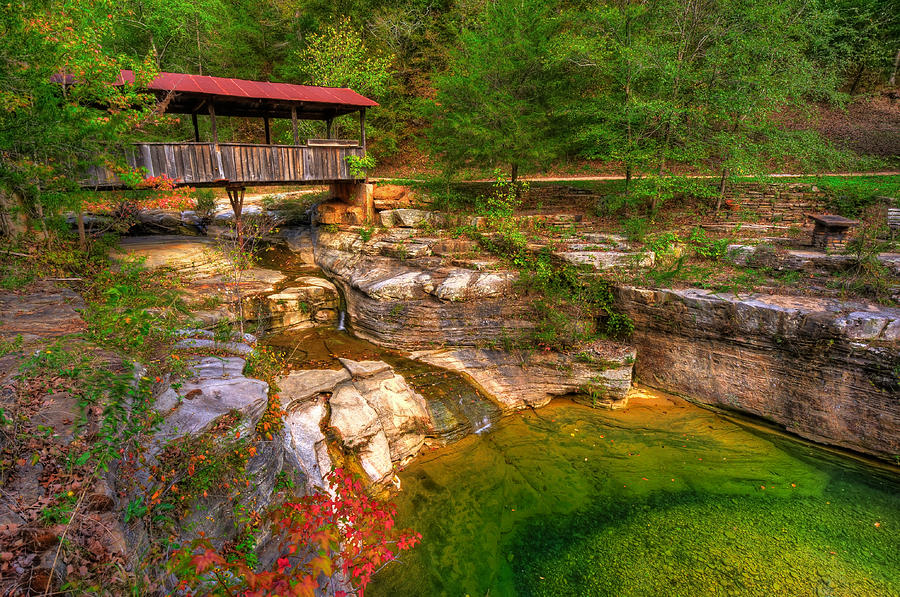 Covered Bridge In Spring - Ponca Arkansas by Gregory Ballos: fineartamerica.com/featured/covered-bridge-in-spring-ponca-arkansas...