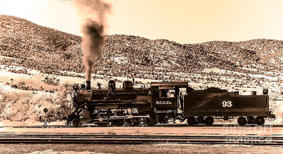 Train Photograph - Nevada Northern Railway by Robert Bales
