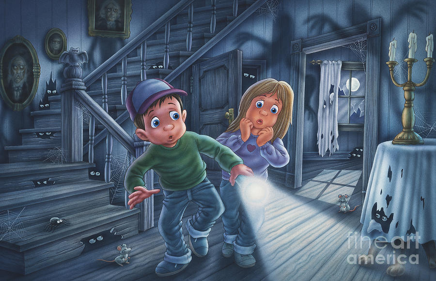 Ghosts Painting - Never Alone by Phil Wilson