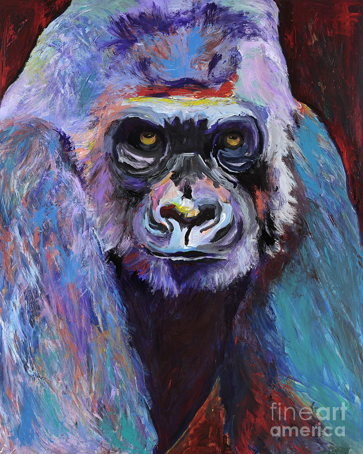 Never Date A Gorilla With A Nice Smile Painting  - Never Date A Gorilla With A Nice Smile Fine Art Print