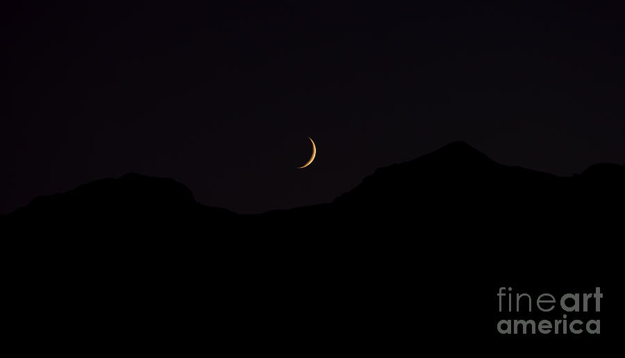 Never Summer Range Moonset Photograph