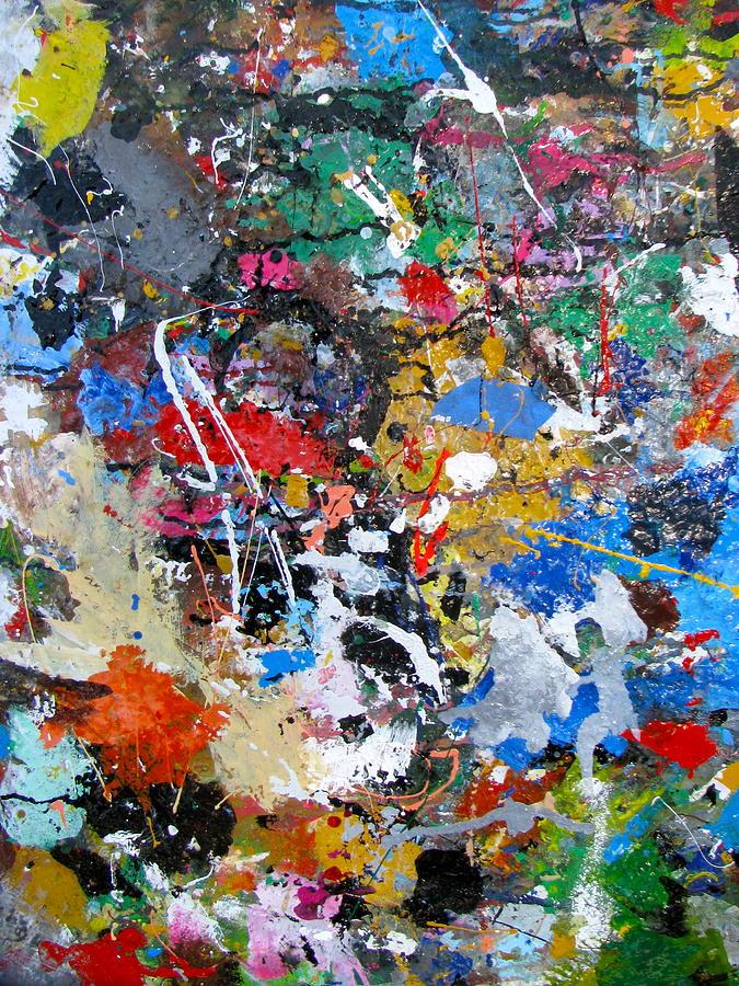 Abstract Painting - New Abstract by Melinda Saminski