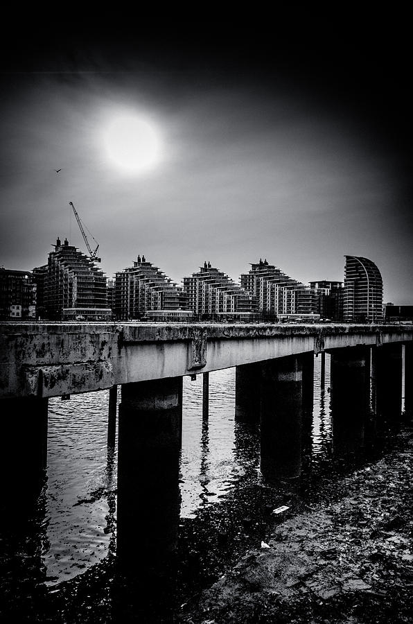 New Apartments Near Battersea Photograph  - New Apartments Near Battersea Fine Art Print