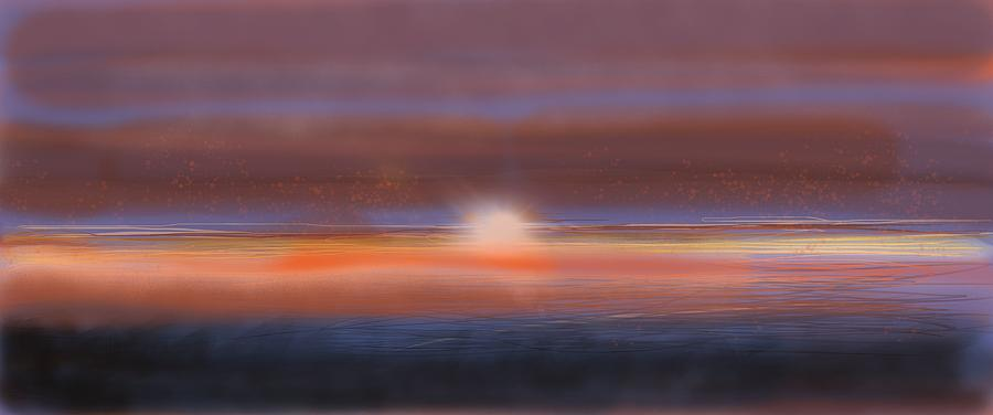New Blue Dawn Digital Art