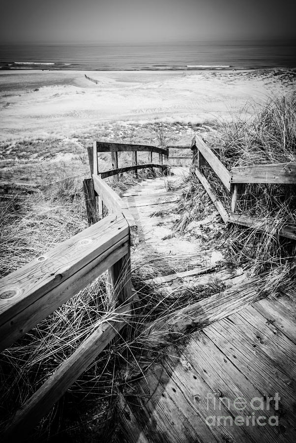 New Buffalo Michigan Boardwalk And Beach Photograph  - New Buffalo Michigan Boardwalk And Beach Fine Art Print