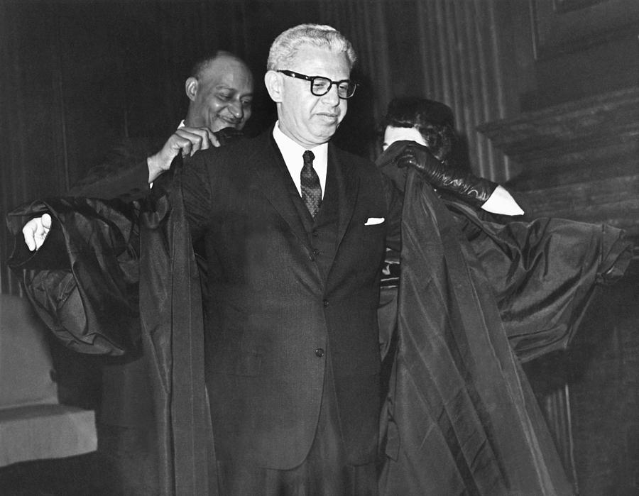 1960's Photograph - New Court Justice Goldberg by Underwood Archives