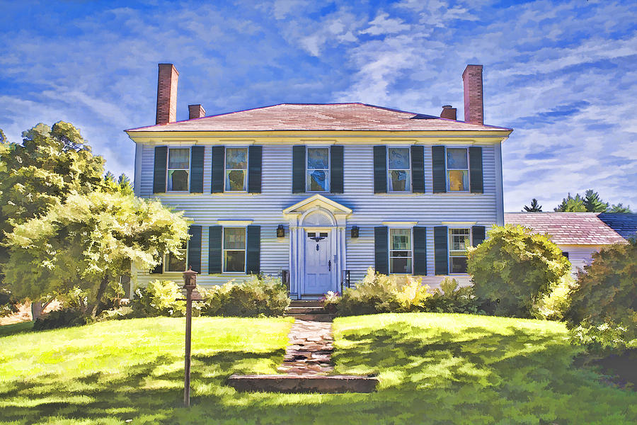 New england country home photograph by fred larson for New england country homes