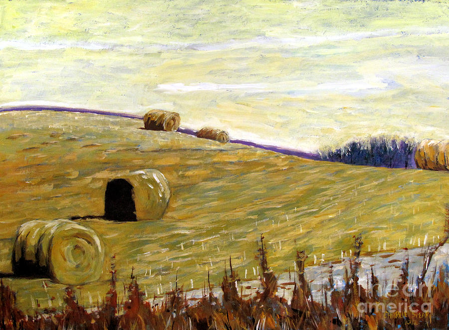 New Haybales Painting  - New Haybales Fine Art Print