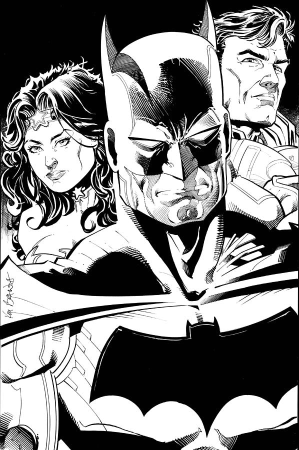 New Jla Drawing  - New Jla Fine Art Print