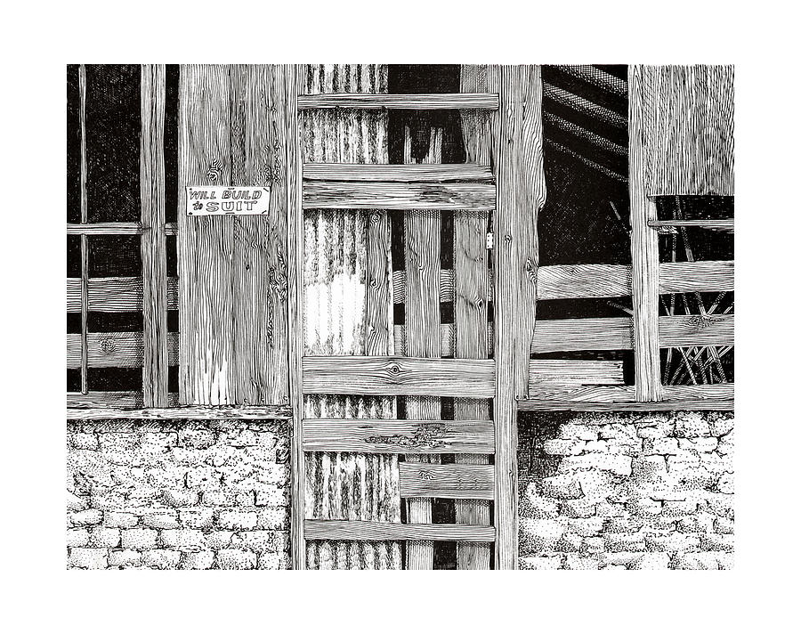 Rancho De Taos New Mexico Doors Drawing