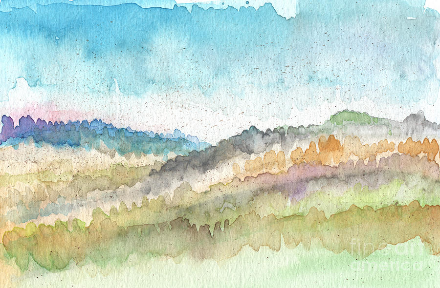 Watercolor Landscape Painting - New Morning by Linda Woods