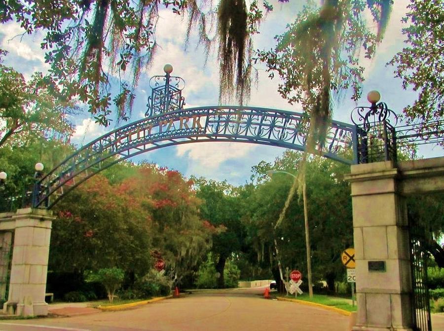 New Orleans City Park Entrance Photograph By Deborah Lacoste