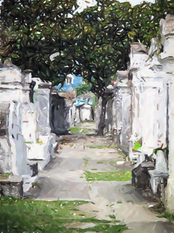 New Orleans French Quarter Cemetary Louisiana Artwork Painting - New Orleans French Quarter Cemetary Louisiana Artwork by Olde Time  Mercantile