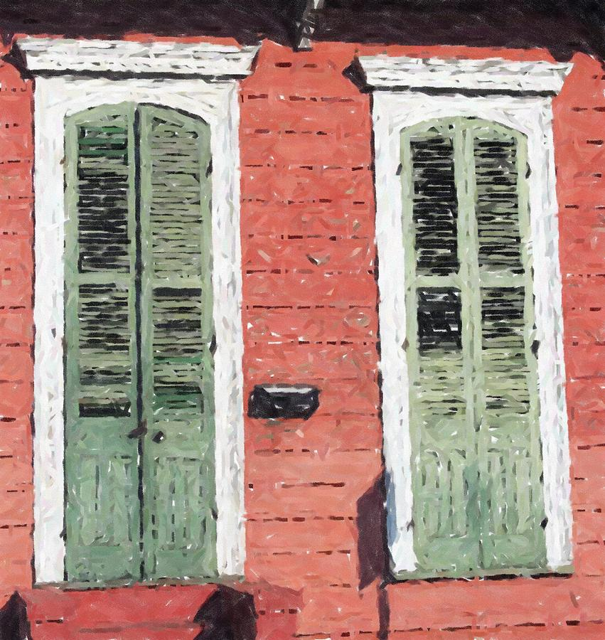 New Orleans French Quarter Shutters Doors Colors Louisiana Artwork Pastel By Olde Time Mercantile