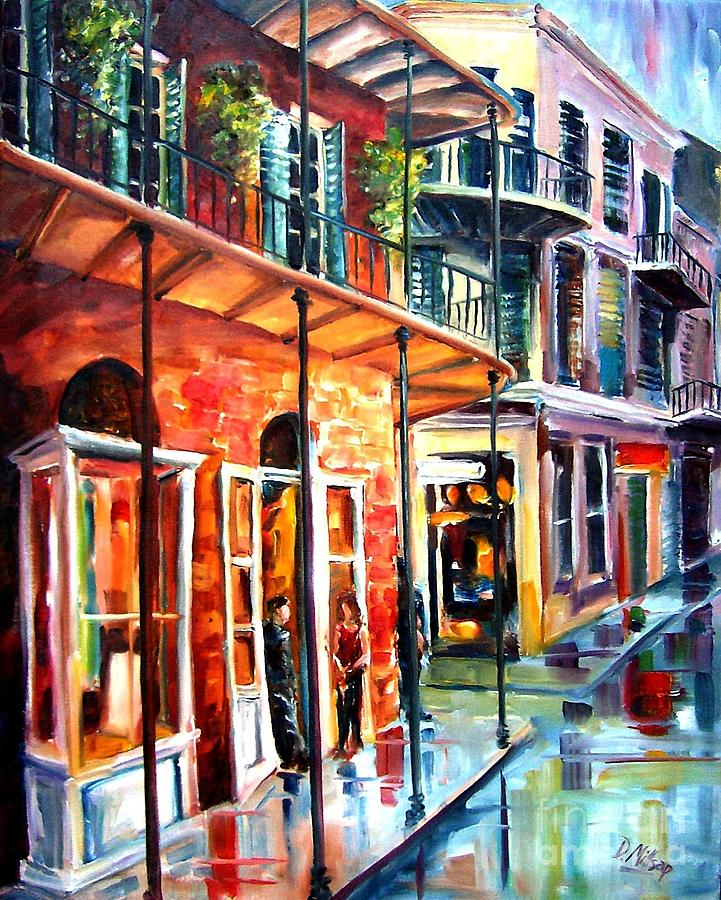 New Orleans Rainy Day Painting  - New Orleans Rainy Day Fine Art Print