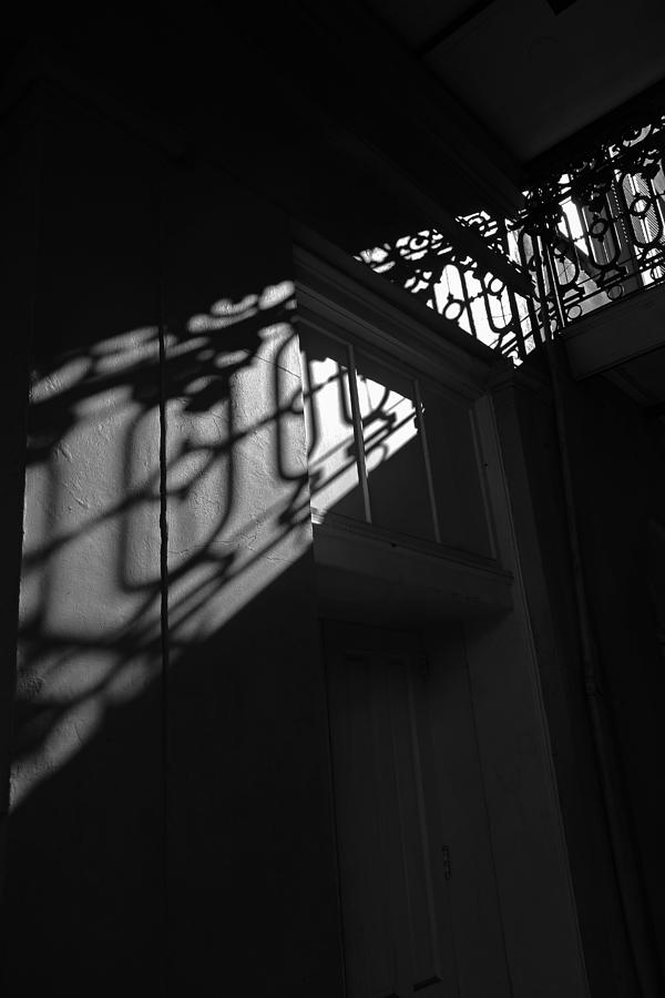 Door Photograph - New Orleans Shadowplay by Louis Maistros