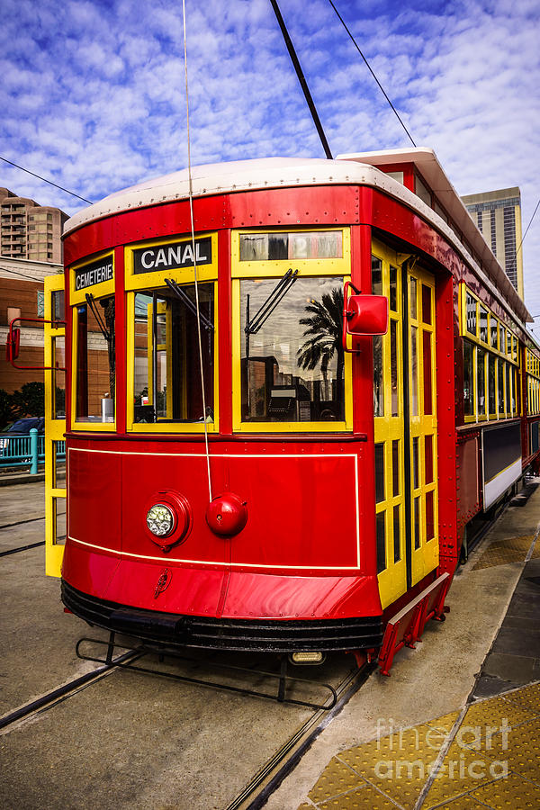 America Photograph - New Orleans Streetcar  by Paul Velgos