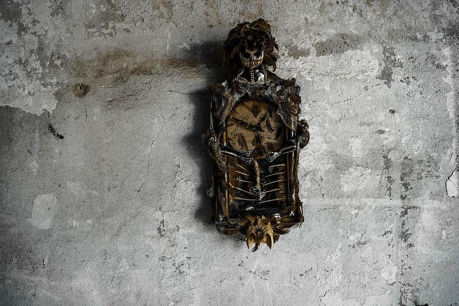 Voodoo Photograph - New Orleans Voodoo Bone Clock by Louis Maistros