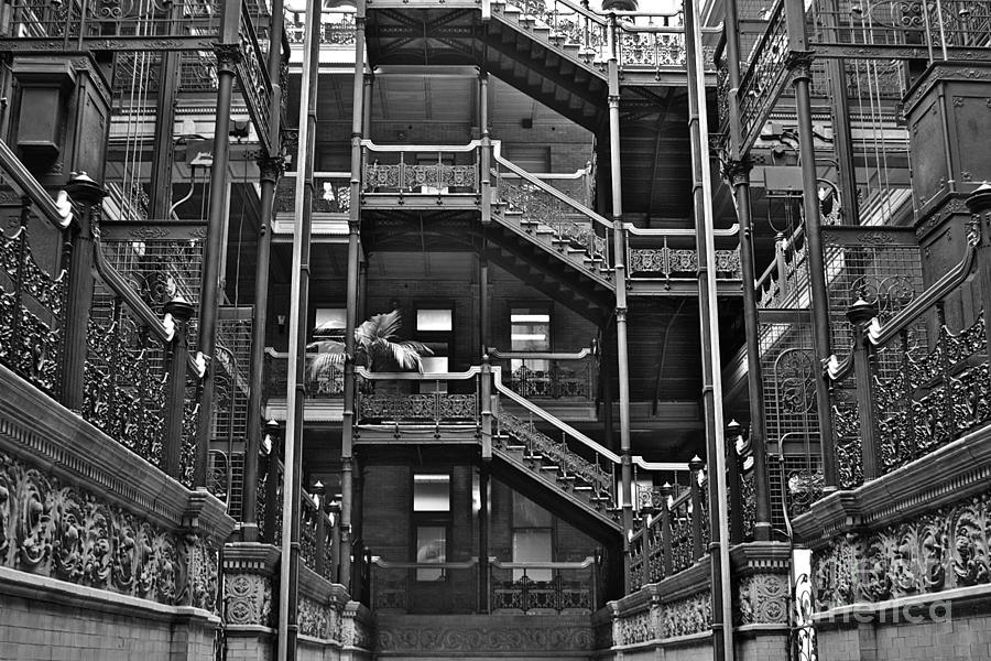Bladerunner Photograph - New Photographic Art Print For Sale Bradbury Building Downtown La by Toula Mavridou-Messer