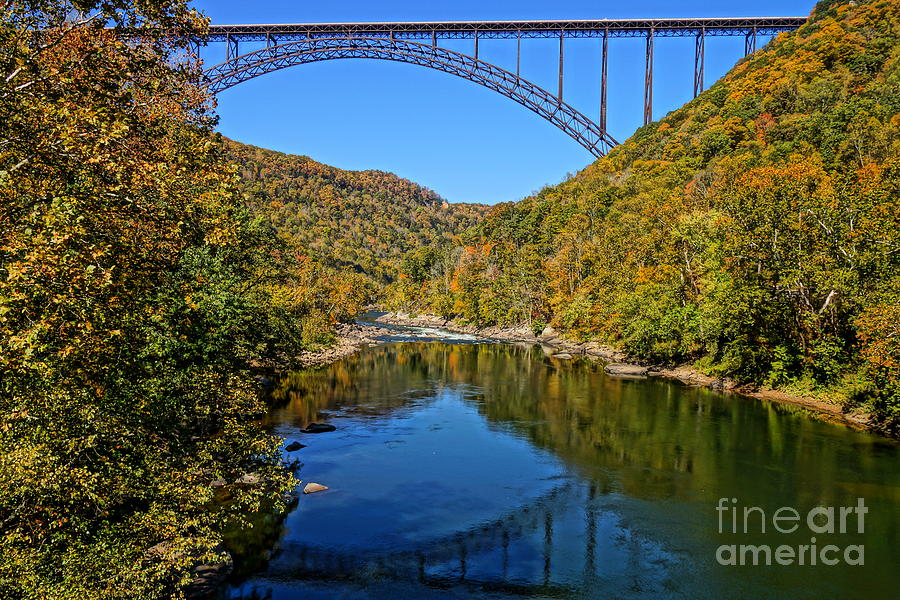 New River Gorge Bridge Fall Profile PhotographNew River Gorge Bridge Fall