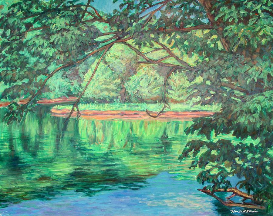 New River Painting - New River Reflections by Kendall Kessler