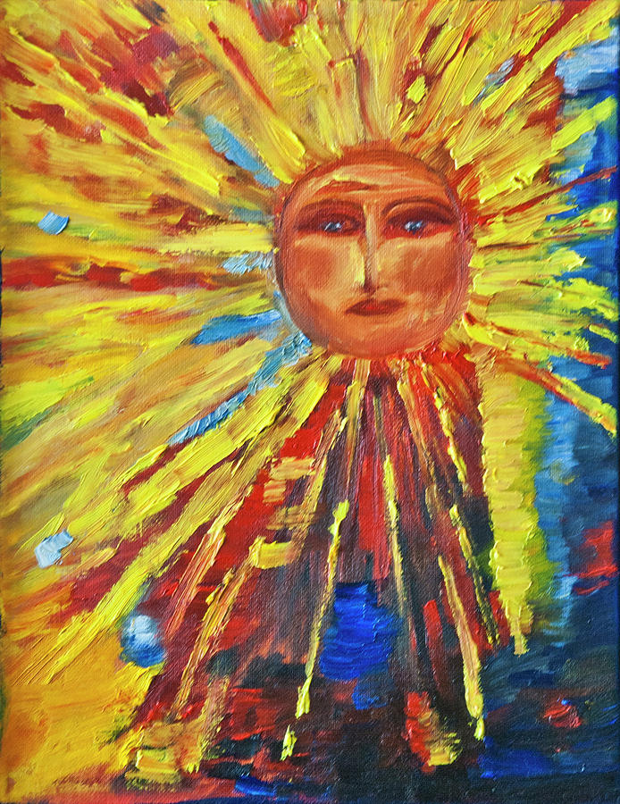 New Sunface Painting  - New Sunface Fine Art Print