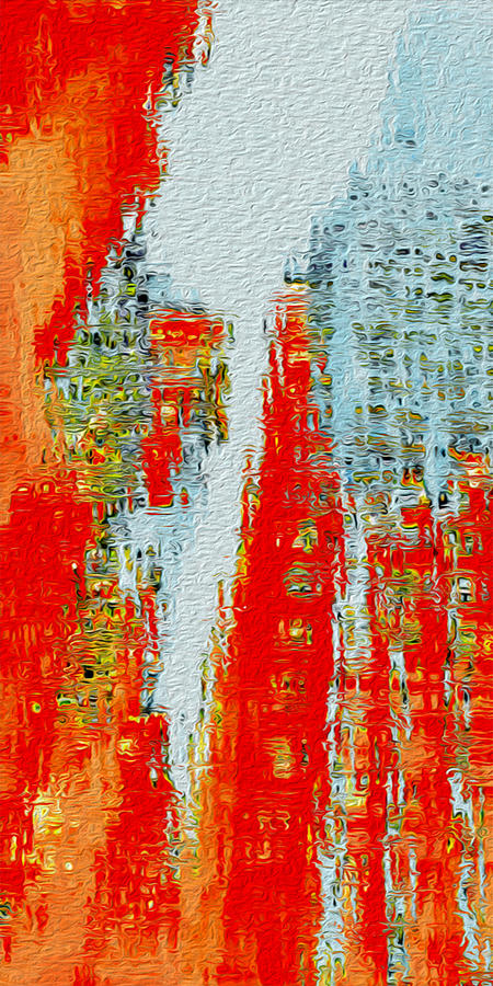 Abstract Painting - New Town by Jack Zulli
