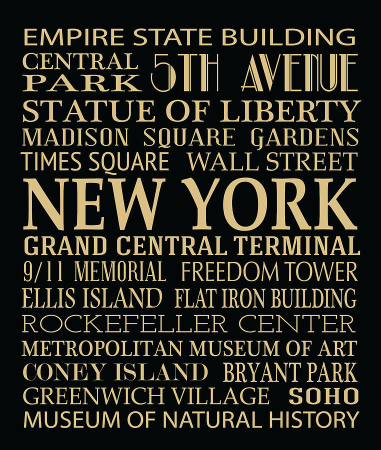 New York Attractions Digital Art