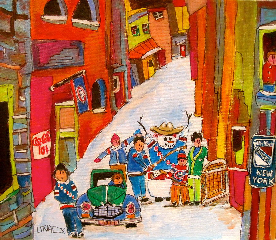 New York Back Lane Coaching Painting